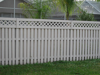 Shadow Box Fence with Lattice Top http://bigdogfence.com/gal3.htm